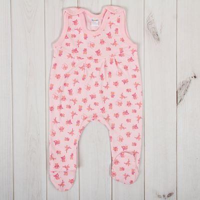 Полукомбинезон детский, рост 68 см, цвет розовый 0305ИПр68_М