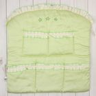 """Карман в кроватку """"Три медвежонка"""", размер 60*60 см, цвет зелёный 5044"""