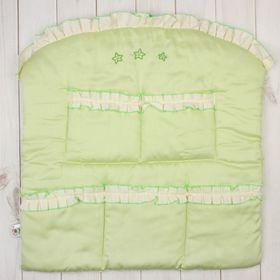 Карман в кроватку 'Три медвежонка', размер 60*60 см, цвет зелёный 5044 Ош