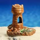 """Аквадекор для аквариума """"Башня на дне"""", микс"""