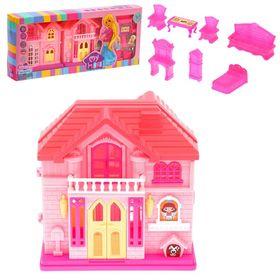 Дом для кукол с мебелью, складной Ош