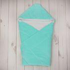 Конверт-одеяло с вышивкой, размер 90*90 см, цвет бирюзовый 2157 Бир