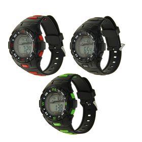 Часы наручные W-F77 с функц: будильник, дата, день недели, секундомер, WR 30m черно+микс 27см 176952