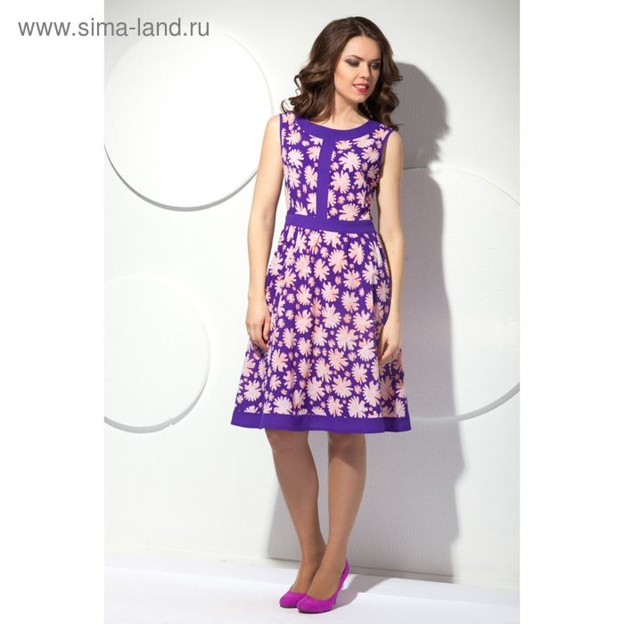 Платье женское, размер 50, цвет фиолетовый П-365