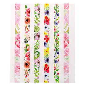 """Пластиковые наклейки-уголки для фотографий """"Акварельные цветы"""", 11 х 13 см"""
