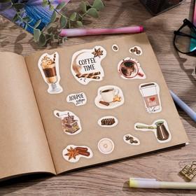 """Наклейки бумажные """"Coffee time"""", 11 х 16 см"""