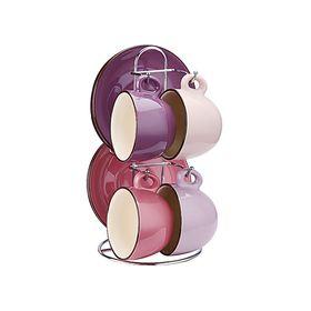 Чайный набор Peterhof, 8 предметов, чашки 4 шт., 180 мл, блюдце 4 шт., фиолетовый