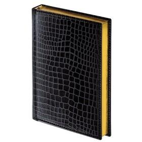 Ежедневник полудатированный А5, 192 листа Alligator, под крокодиловую кожу, 148х218мм, кремовая бумага, золотой срез