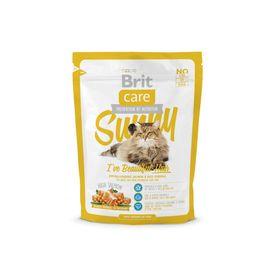 Сухой корм Brit Care Cat Sunny Beautiful Hair для кошек, уход за кожей и шерстью, 400 г
