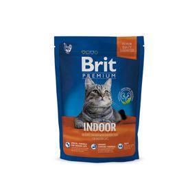 Сухой корм Brit Premium Сat Indoor для домашних кошек, курица и печень, 1.5 кг
