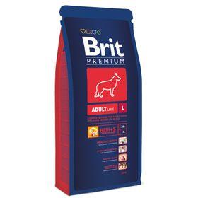 Сухой корм Brit Premium Dog Adult L для собак крупных пород, 15 кг
