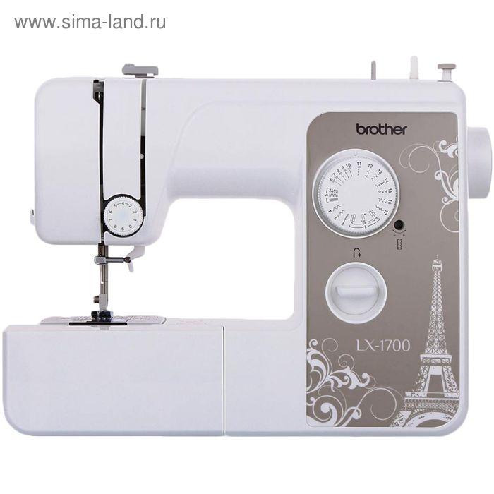 Швейная машина Brother LX-1700, 17 операций, обметочная, потайная, эластичная строчка