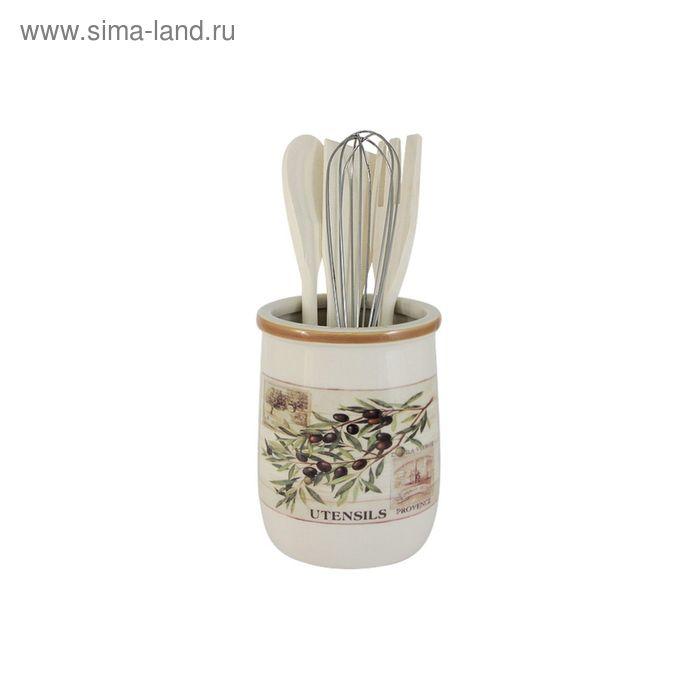 "Банка-подставка с кухонными инструментами ""Оливки"""