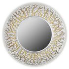 Зеркало CORAL, древесный материал, серебристое