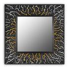 Зеркало CORAL QU, древесный материал, чёрный лак