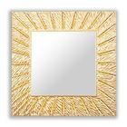 Зеркало SUNSHINE QU, древесный материал, золотистое