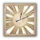 Часы TWINKLE NEW, древесный материал, золотистые
