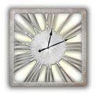 Часы TWINKLE NEW, древесный материал, серебристые