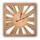 Часы TWINKLE NEW, древесный материал, бронзовые