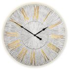 Часы TWINKLE, древесный материал, серебристые