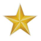 "Наклейка на авто ""Золотая звезда"" 85х85мм"