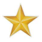 "Наклейка на авто ""Золотая звезда"" 75х75мм"