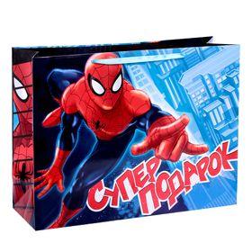 """Пакет ламинированный горизонтальный """"Супер подарок"""",Человек-паук , 61 х 46 х 20 см"""