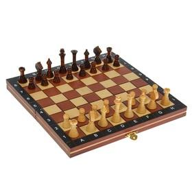 Шахматы настольные, поле складное 27 × 27 см