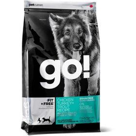 Корм беззерновой GO! для собак 4 вида мяса: Индейка, Курица, Лосось, Утка, 11,35кг