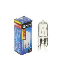Лампа галогенная Uniel, G9, 40 Вт, 220 В, прозрачная