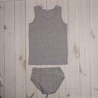 Комплект для мальчика (плавки и майка), рост 92 см, цвет серый меланж 662_М