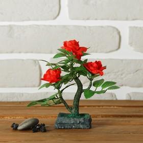 Бонсай 'С тремя розами' 6*6*15 см Ош