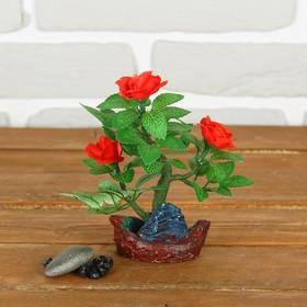 Бонсай 'С розами' 5,5*8*14 см Ош