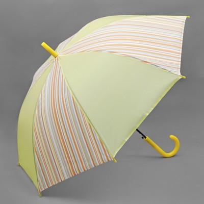 """Зонт-трость """"Полоска"""", полуавтоматический, R=55см, цвет жёлтый"""