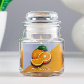 Свеча в стекле ароматическая 6х8,5см, аромат: апельсин