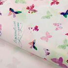 """Бумага упаковочная глянцевая """"Вдохновение и радость"""", бабочки ,70 х100 см"""