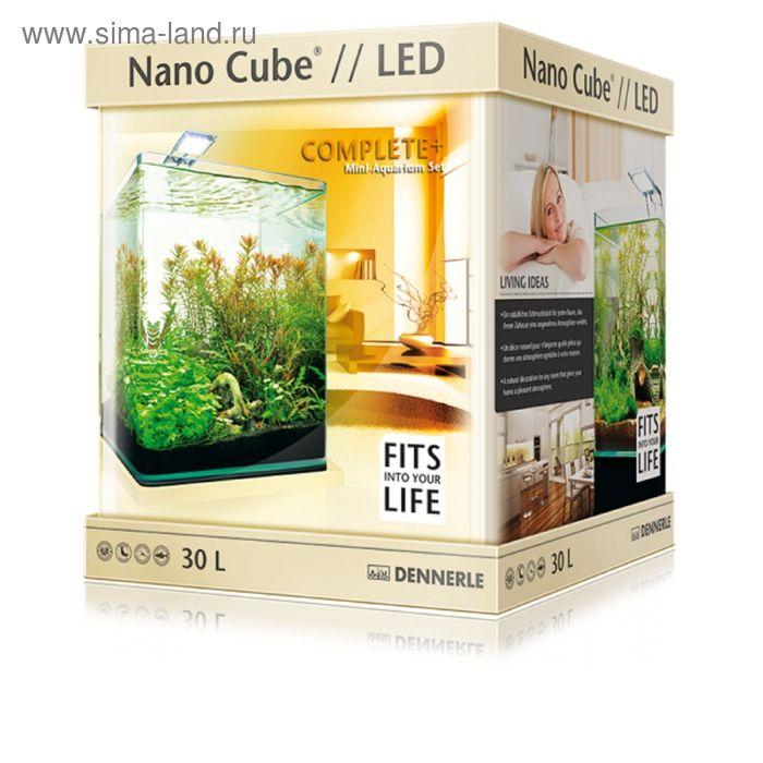 Нано-аквариум 30 л, с расширенным комплектом для установки Dennerle NanoCube Complete Plus Nano Powe