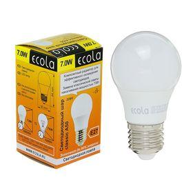 Лампа светодиодная Ecola classic, 7,0 Вт, A50, 220-240 В, E27, 2700 K, 94x50