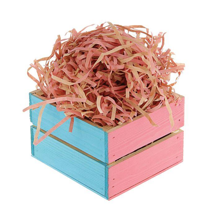 Наполнитель бумажный крафт розовый, 200 г
