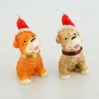 Свеча «Собака в шапке», 5.5 × 9.5 см, 62 г, МИКС