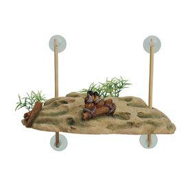 """Декорация для аквариума """"Островок для черепах"""", на присосках, 24,5x11,5x7,5 см"""