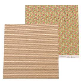"""Бумага для скрапбукинга """"Разноцветные листья"""" 30,5 х 30,5 см, 180 г/м"""
