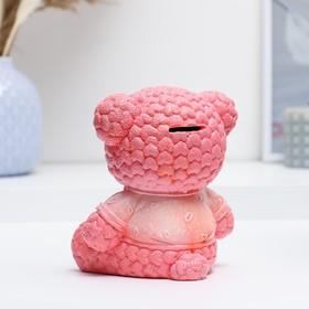 """Копилка """"Мишка плюшевый"""" 15 см розовый"""