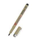 Ручка капиллярная для графических работ и каллиграфии Bruynzeel-sakura Pigma Graphic 2.0 мм чёрная (пигментные чернила)