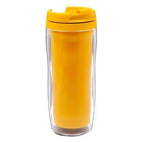 Термостакан под полиграфическую вставку, жёлтый, 350 мл