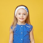 Повязка на голову для девочки, размер 46-47, цвет белый/синий 30088021019.180_М