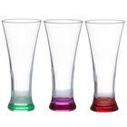 """Набор бокалов для пива 360 мл ПАБ """"Цветное дно"""", 3 шт"""