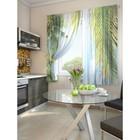 """Комплект штор для кухни """"Ланаш"""", размер 150х180 см. - 2 шт. и 2 подхвата 920101"""