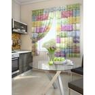 """Комплект штор для кухни """"Лирей"""", размер 150х180 см. - 2 шт. и 2 подхвата 920094"""