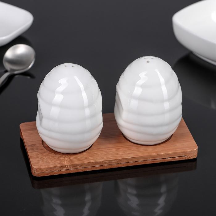 """Набор для специй """"Эстет. Яйца"""", 2 предмета на подставке"""